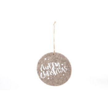 Cosy @ Home Suspension Ornament  Brun Feutre D15cm
