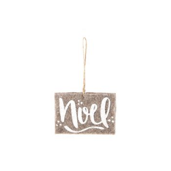 Cosy @ Home Suspension Ornament Brun Feutre  8x11x1c