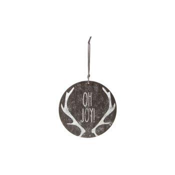 Cosy @ Home Suspension Ornament Gris Bois D15 Glitte