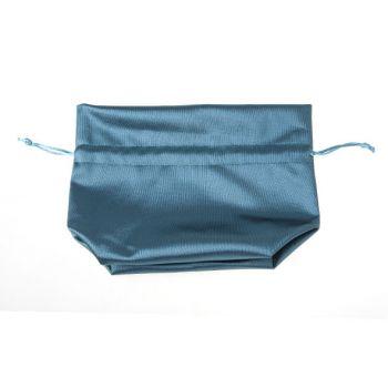 Cosy @ Home Petit Sac  Turquoise Textile 14x8xh17cm