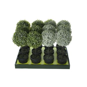 Cosy @ Home Buis Set12 Vert Synthetique 15x15xh43