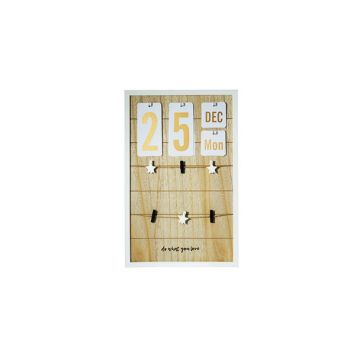 Cosy @ Home Calendrier-tableau Memo Bois 32x3xh50cm