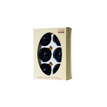 Cosy @ Home Boule Noel Set6 Bleu Royal Sphere Verre