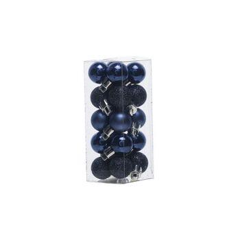 Cosy @ Home Boule Noel Set20 Mix Bleu Nuit D2cm