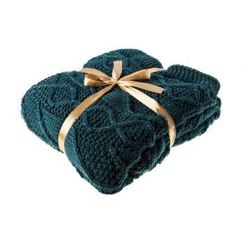 Cosy @ Home Plaid  Bleu-vert Textile 130x180cm