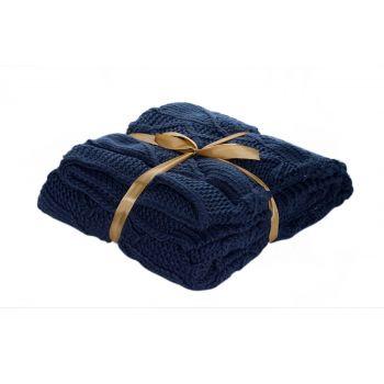 Cosy @ Home Plaid Bleu Fonce Rectangle Textile L130