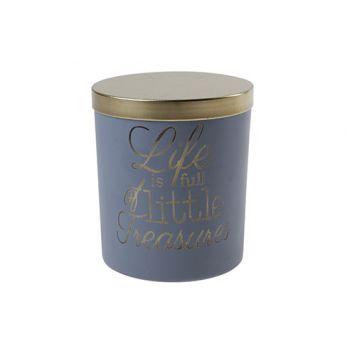 Cosy @ Home Bougie En Pot Noir Rond Verre 10x10xh12,