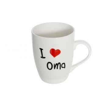 Cosy & Trendy Gobelet 'i Love Oma' D8.3xh10.5cm 36cl