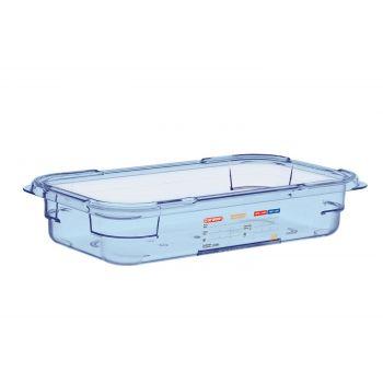 Boîte hermétique bleue en ABS sans BPA Araven GN1/3 65mm