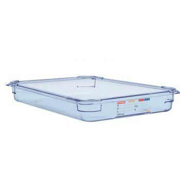 Boîte hermétique bleue en ABS sans BPA Araven GN1/1 65mm