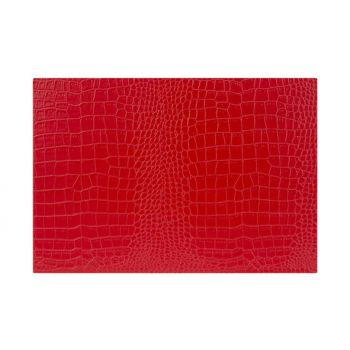 Cosy & Trendy Placemat Cuire Look Rouge 43xh30cm