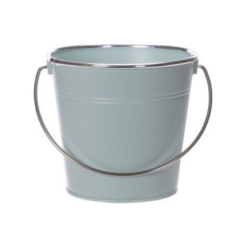 Cosy @ Home Seau Matt Silver Handle Mint 16x11,5xh14