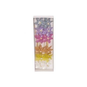 Cosy @ Home Moulin A Vent Set12 Flowers Multi-colore