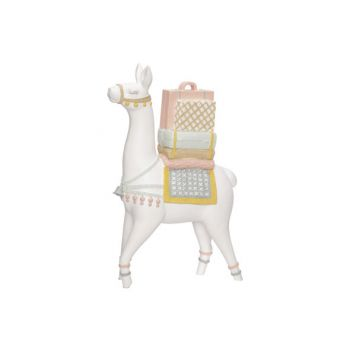 Cosy @ Home Lama Avec Saddle Blanc 20x8xh30cm Resine
