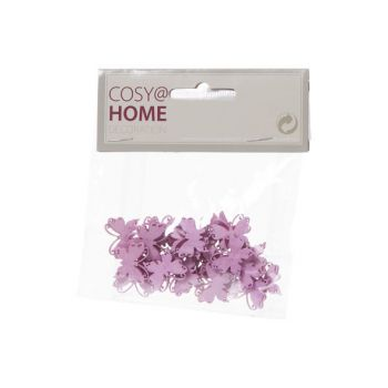 Cosy @ Home Papillons Deco 24pcs In Polybag Rose 2x2