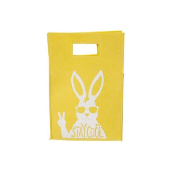 Cosy @ Home Deco Sac Stay Cool Rabbit Jaune 25,5x38x