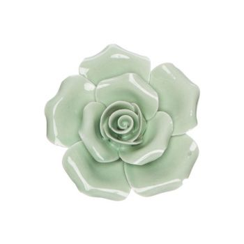 Cosy @ Home Fleur Mint 6x6xh3cm Porcelaine