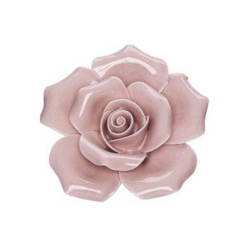 Cosy @ Home Fleur Rose 6x6xh3cm Porcelaine