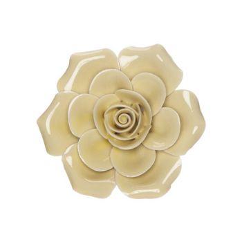 Cosy @ Home Rose Jaune 6x6xh3cm Porcelaine