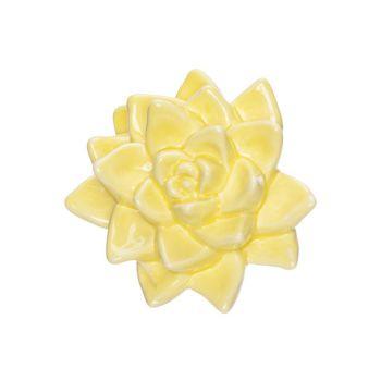 Cosy @ Home Fleur Jaune 11x9,8xh5,5cm Porcelaine