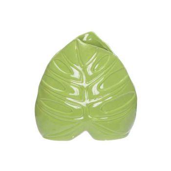 Cosy @ Home Vase Leaf Vert 15x6,3xh15,3cm Porcelaine