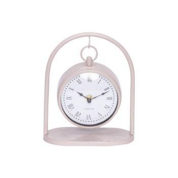 Cosy @ Home Horloge Hanging Rose 16x8,5xh19,5cm Meta