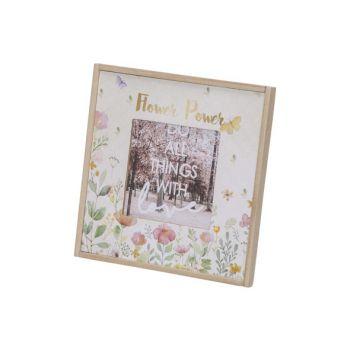 Cosy @ Home Cadre Photo Flowers Blanc 18x1,5xh18cm C