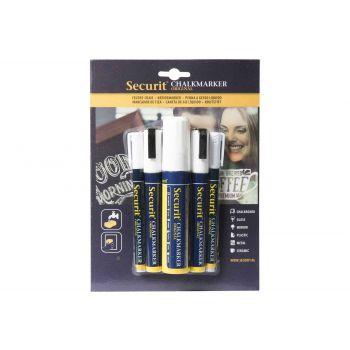 Securit Marqueur Craie Set5 Liquid Blanc