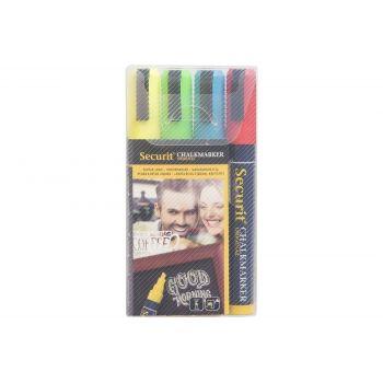 Securit Marqueur Craie Set4 Liquid Multi-colore