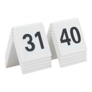 Securit Signs Set10 Numero De Table Blanc 31-40
