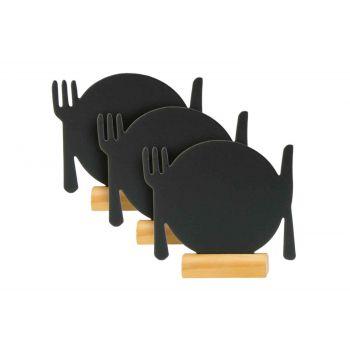 Silhouette de table assiette Securit
