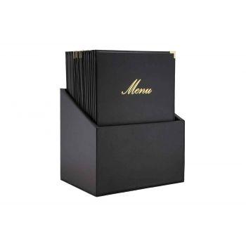 Securit Classic 20x Support Menu In Box Noir A4