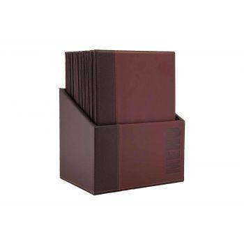 Securit Trendy 20x Support Menu In Box Bordeaux