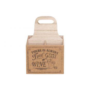 Cosy & Trendy Porte Bouteille Vin 18,5x18,5xh27cm Bois