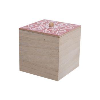 Cosy @ Home Boite Mandala Dark Terracotta 10x10xh11c