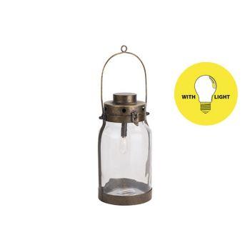 Cosy @ Home Lampe Lantern Dore 16,5x16,5xh32cm Metal