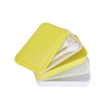 Cosy & Trendy Lunchbox 2pcs A. Strap Gris 2 Types 2x600ml