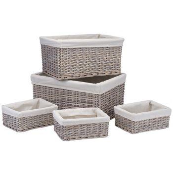 Cosy @ Home Set5 Mannes Pailles-textile 50x37xh25-44