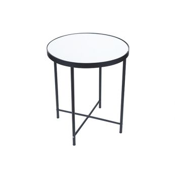 Cosy @ Home Table D'appoint Mirror Noir 40x40xh46cm