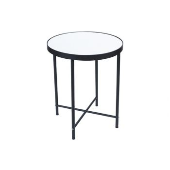 Cosy @ Home Table D'appoint Mirror Noir 35x35xh41cm