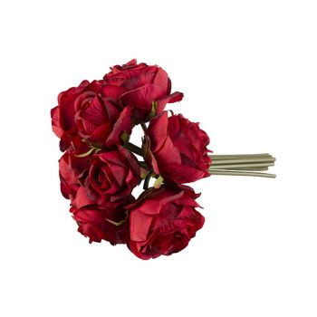 Cosy @ Home Bouquet Roses Rouge 30cm