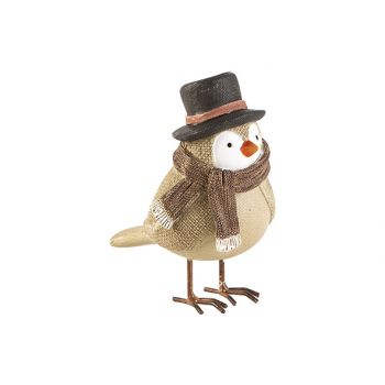 Cosy @ Home Oiseau Scarf Beige 12x7xh12,5cm Resine