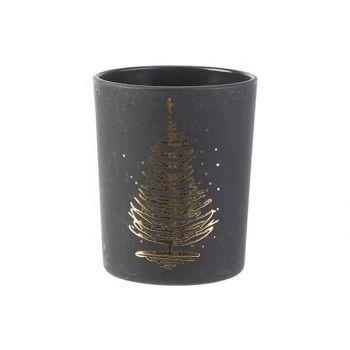 Cosy @ Home Bougeoir Xmas Tree Gold Noir 5,6x5,6xh6,