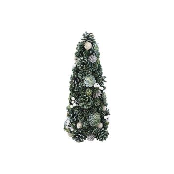 Cosy @ Home Cone Glitter Pin Cone Vert 20x20xh38cm