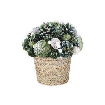 Cosy @ Home Composition De Noel Flower Pot  Glitter