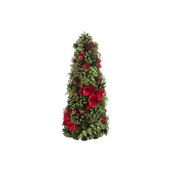 Cosy @ Home Cone  Pine Cone Flower Rouge Vert 20x20x