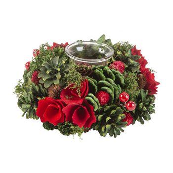 Cosy @ Home Composition De Noel 1 Glass Rouge Vert 1