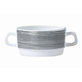 Arcoroc Brush Grey Bol A Consomme Set 6