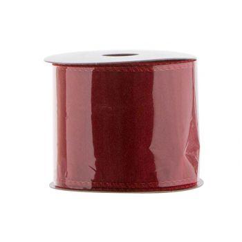 Cosy @ Home Ruban Deco Rouge 270x6cm Velours