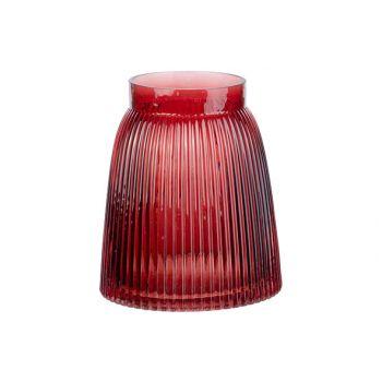 Cosy @ Home Vase Mona Rouge 14x14xh16cm Rond Verre